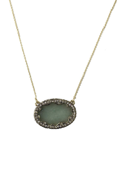 TANGA COAST PENDANT NECKLACE - JASPER