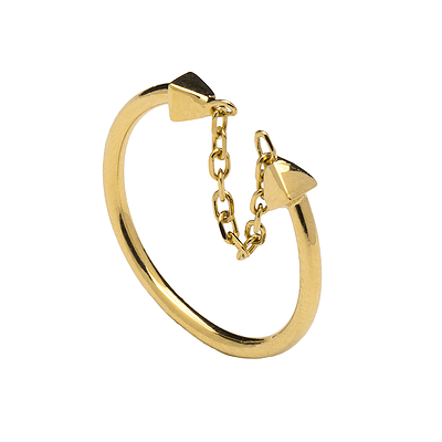 TETHER GOLD RING