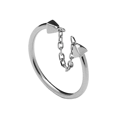 TETHER SILVER RING