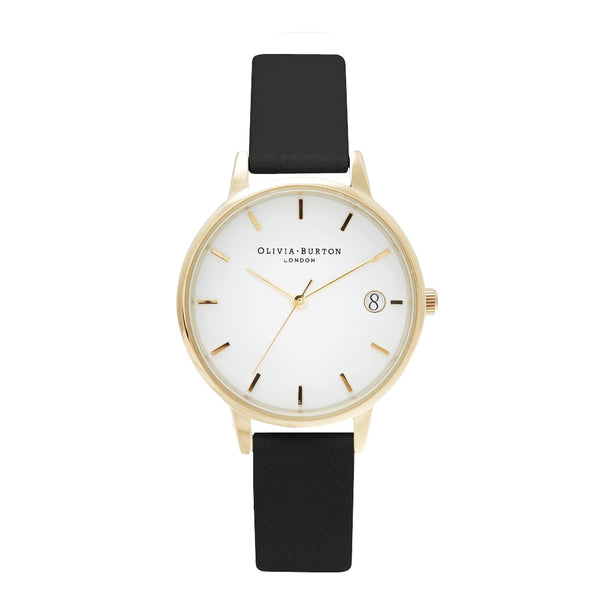 THE DANDY - MIDI WHITE DIAL WITH BLACK STRAP