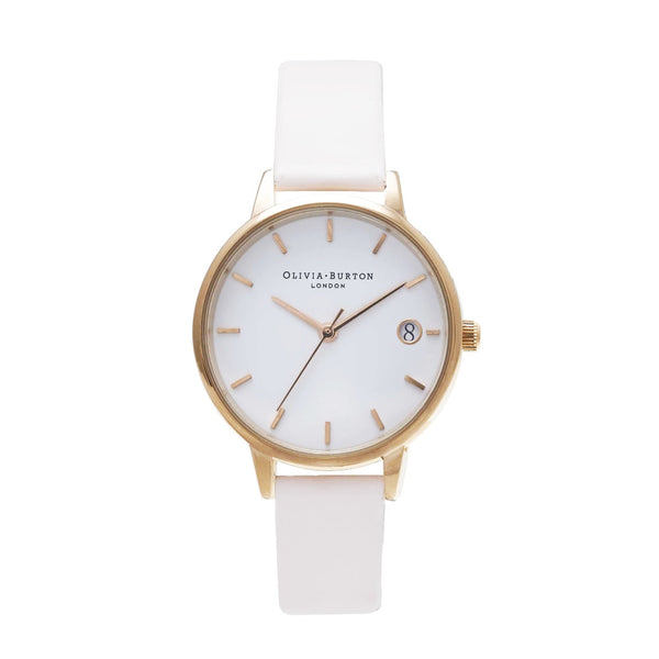 THE DANDY - MIDI WHITE DIAL WITH BLUSH STRAP