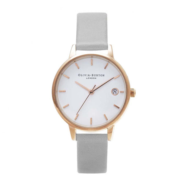 The Dandy - Midi Grey and Rose Gold Watch