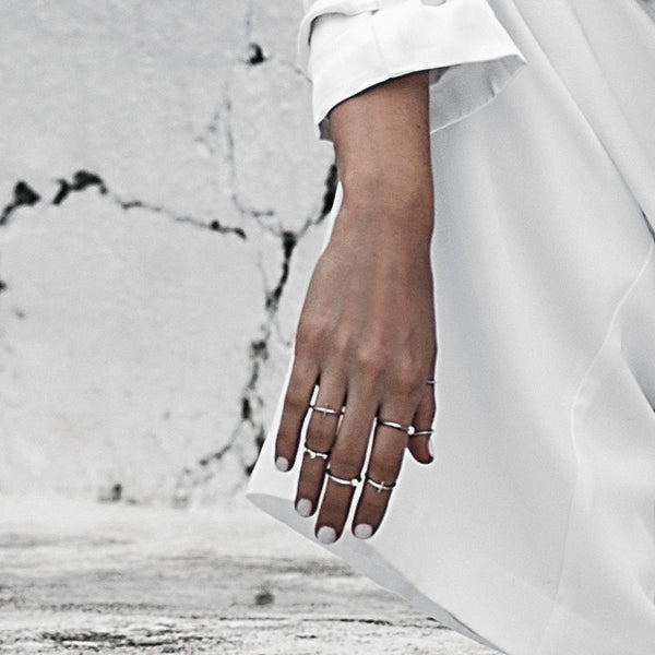 (PRE-ORDER) Trace Rings - Silver