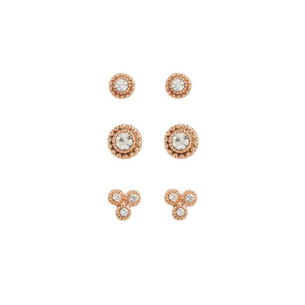 The Moroccan Ear Studs Set - Rose Gold