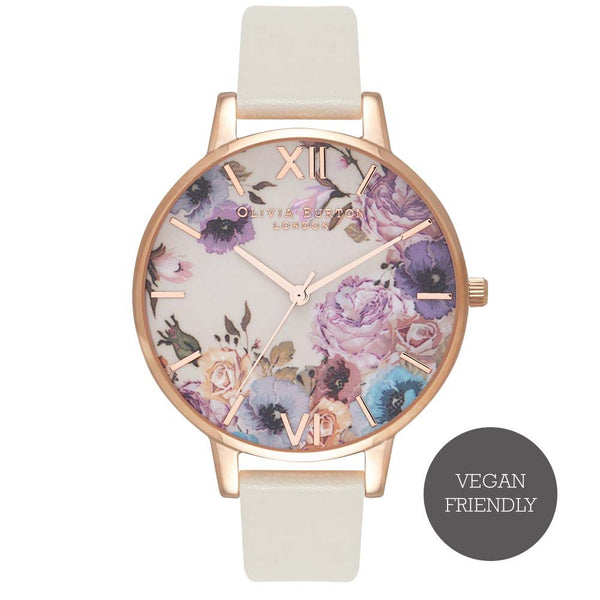 Enchanted Garden Nude & Rose Gold Watch (Vegan Friendly)