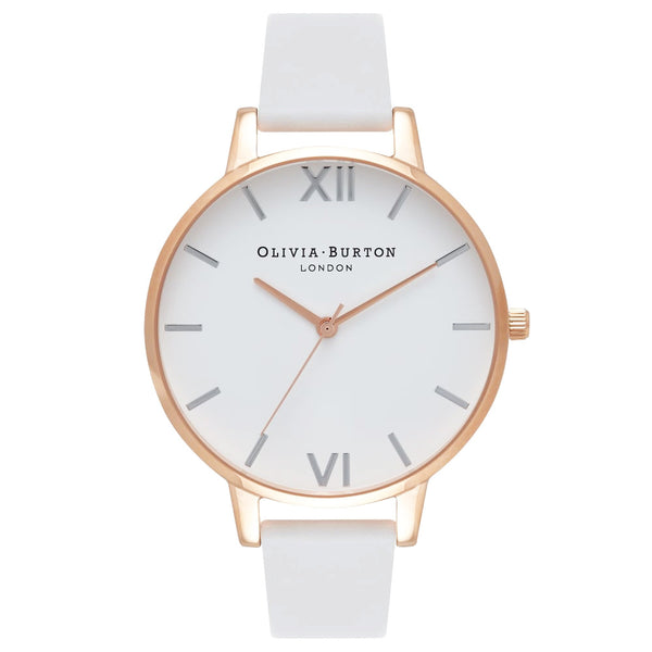WHITE DIAL WHITE STRAP, MIX ROSE GOLD & SILVER