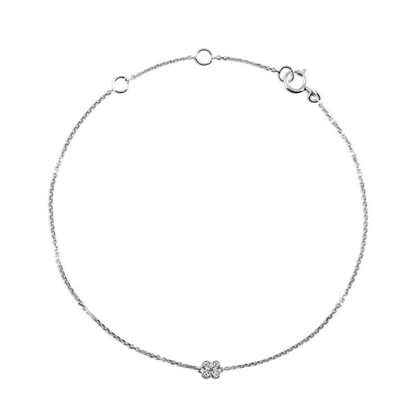 DIAMOND SNOWFLAKE BRACELET WHITE GOLD