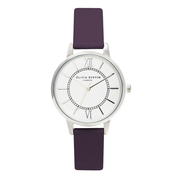 MIDI WONDERLAND SILVER DIAL AND AUBERGINE