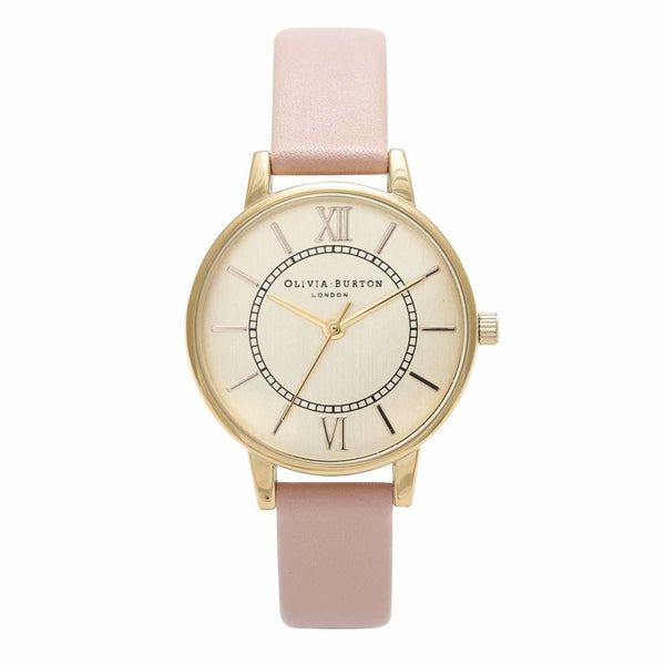 MIDI WONDERLAND GOLD DIAL IN DUSTY PINK
