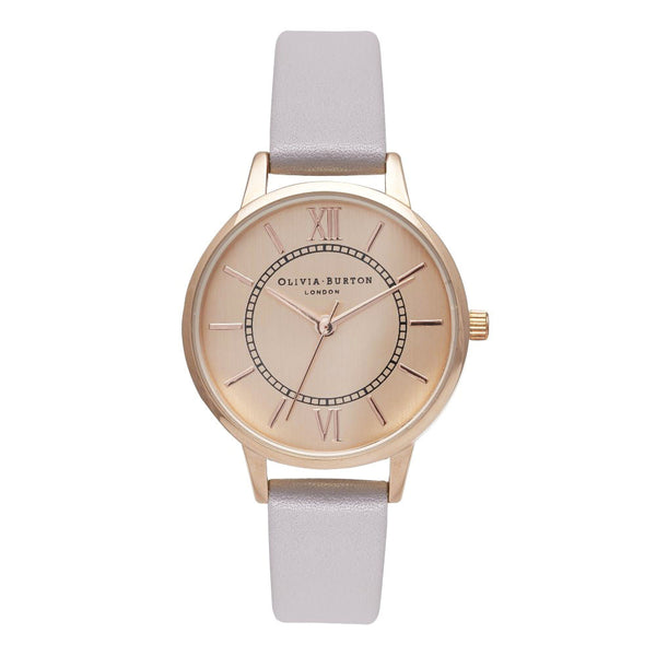 MIDI WONDERLAND ROSE GOLD DIAL IN LILAC
