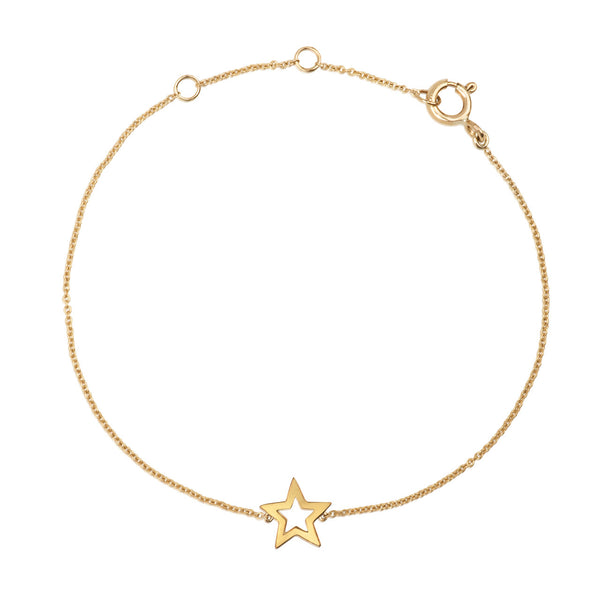 (PRE-ORDER) STAR GAZE CHARM BRACELET YELLOW GOLD
