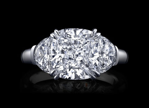 Amazing 4.26ct Siberian Cushion Cut Diamond Ring