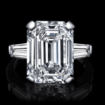 Amazing 7.16ct Siberian Emerald Cut Diamond Ring