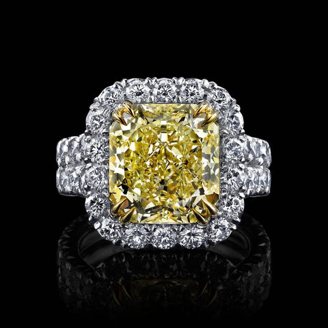 Internally Flawless Siberian Canary Diamond Ring