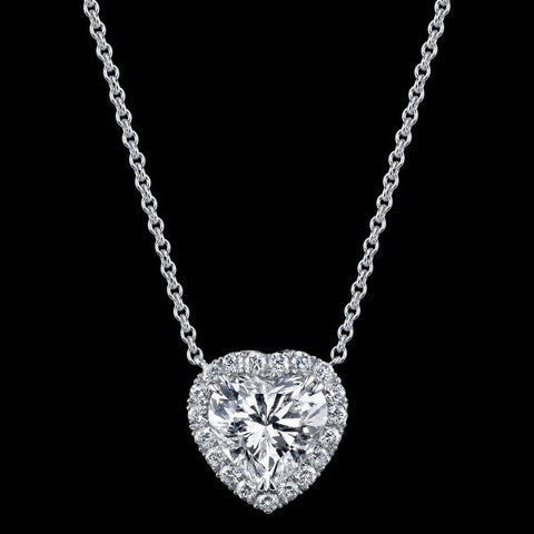 Beautiful Heart Shape Siberian Diamond Pendant