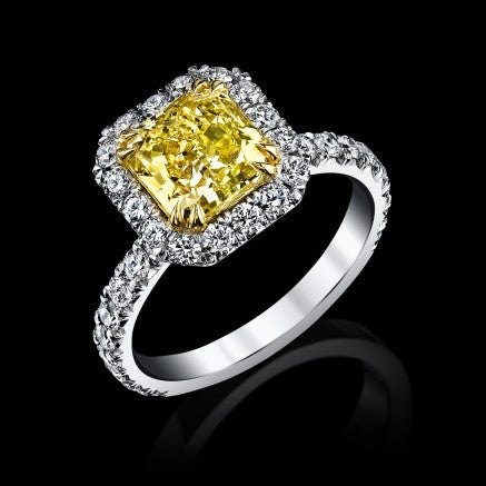 Vibrant Siberian Canary Diamond Ring