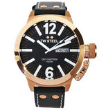 TW Steel Watch CE1022 CEO Canteen Black Dial Rose Gold Plated 50mm