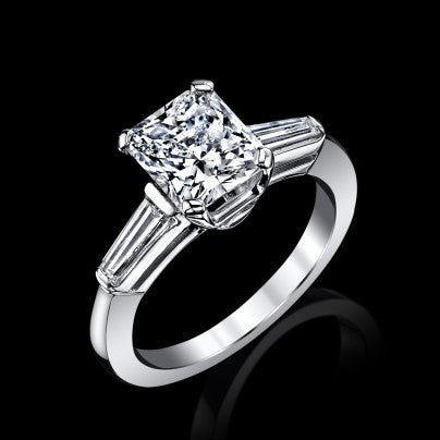 Siberian Radiant Cut 2.08ct G Color VVS1 GIA Diamond Ring