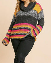 Load image into Gallery viewer, Multicolor Fuzzy Knit Pullover