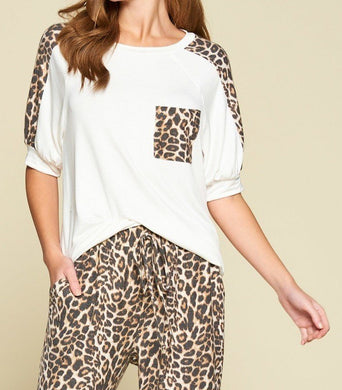 Cute Animal Print Casual Top