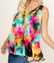 Load image into Gallery viewer, Tie Dye Swing Tunic Top