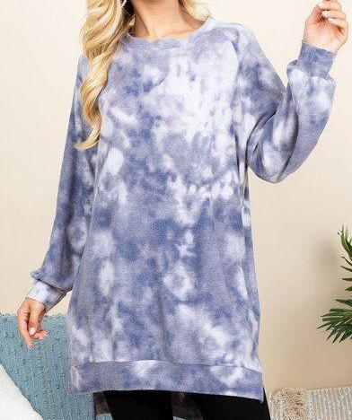 Ultra Cozy Tie Dye French Terry Oversize Casual Pullover