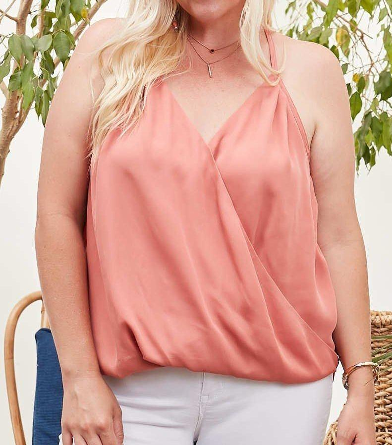 Shirring Solid Cami Top