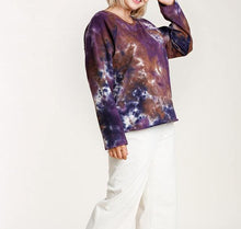 Load image into Gallery viewer, French Terry Tie-dye Raglan Top