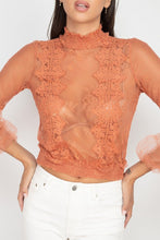 Load image into Gallery viewer, Lace Trim Smocked Top