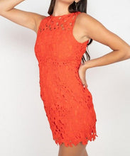 Load image into Gallery viewer, Floral Lace Bodycon Dress