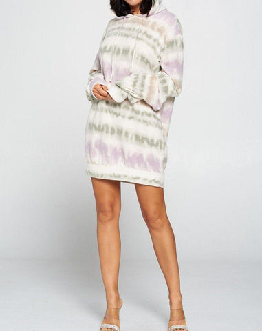 Terry Brushed Sweater Dress