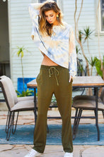 Load image into Gallery viewer, Adjustable Waist French Terry Solid Pants