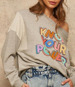 French Terry Knit Graphic Sweatshirt