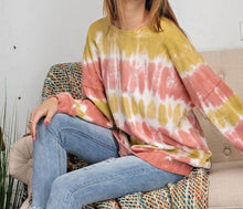 Load image into Gallery viewer, Ombre Dye Terry Knit Pullover Top