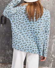 Load image into Gallery viewer, Leopard Garment Dye Loose Fit Knit Top