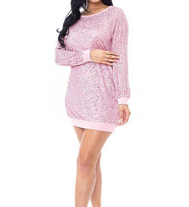 Sequin Boxy Mini Dress