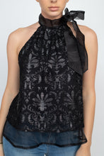 Load image into Gallery viewer, Sleeveless Neck Tie Keyhole Top