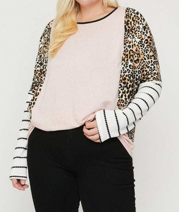 Cheetah Print  Long Sleeve Top
