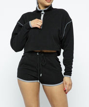Load image into Gallery viewer, Sporty Crop Top Shorts Set