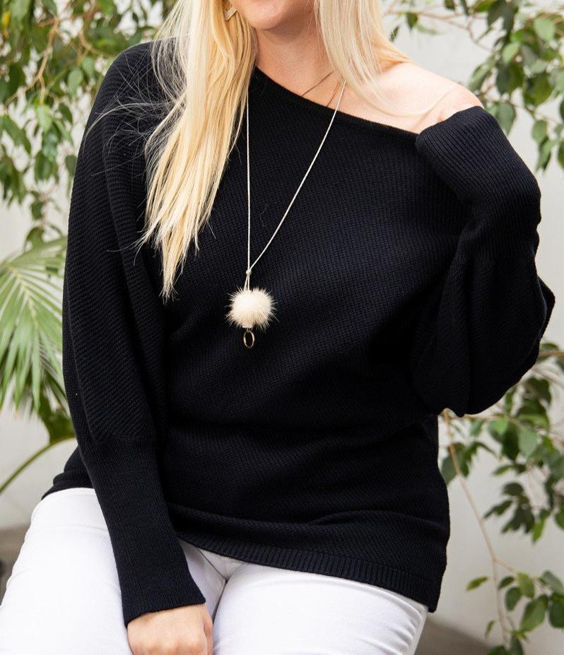Round Neck Long Sleeve Solid Sweater