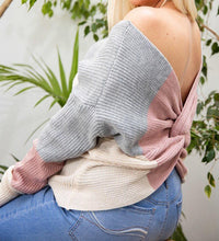 Load image into Gallery viewer, Twisted Open Back Sweater