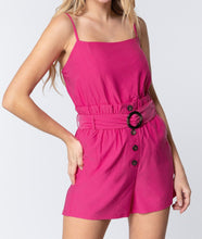 Load image into Gallery viewer, Cami Strp Belted Romper