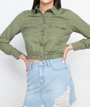 Load image into Gallery viewer, Elasticized Waist Flap Pockets Top