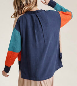 Colorblock On Back Top