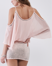 Load image into Gallery viewer, Studded Blush Mini Dress