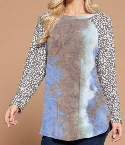 French Terry Tie Dye Casual Top