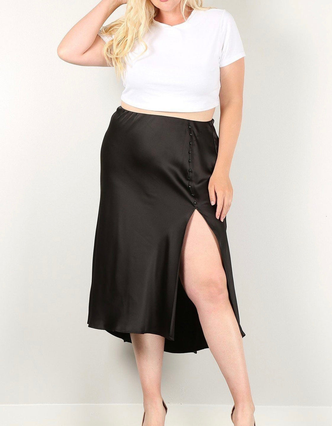 Black Side Slit Skirt