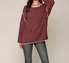 Load image into Gallery viewer, Two-tone Sold Sweater Top