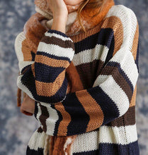 Load image into Gallery viewer, Multicolored Stripe Knit Sweater