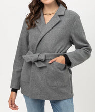 Load image into Gallery viewer, Fleece Belted Coat